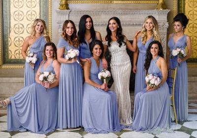 Gorgeous Sleeveless Light Blue Ruffles A-Line Bridesmaid Dresses_2