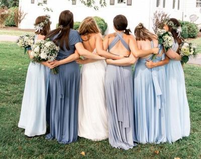 Gorgeous Sleeveless Light Blue Ruffles A-Line Bridesmaid Dresses_4