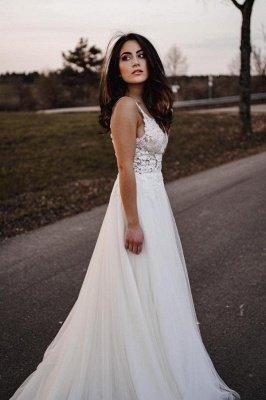 Spaghetti Straps Tulle Lace Appliques Wedding Dresses