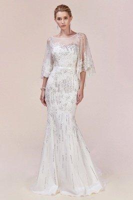 Luxury Tulle Sleeveless Lace Crystal Silver Mermaid Prom Dresses_4