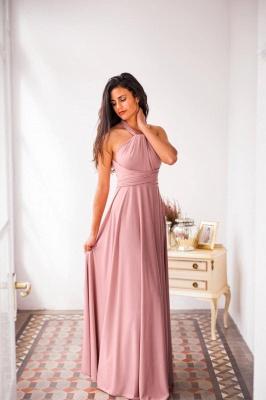 Chiffon Satin Ruffles A-Line Zipper Bridesmaid Dresses_6