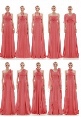 Vintage Chiffon Sleeveless Ruffles A-Line Bridesmaid Dresses_3
