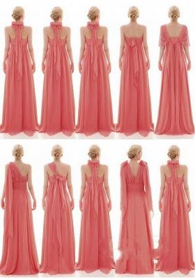 Vintage Chiffon Sleeveless Ruffles A-Line Bridesmaid Dresses_2
