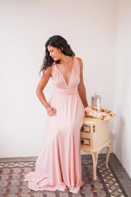 Chiffon Satin Ruffles A-Line Zipper Bridesmaid Dresses_7