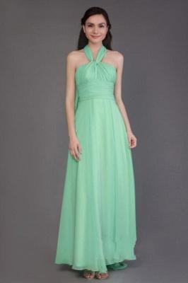 Vintage Chiffon Sleeveless Ruffles A-Line Bridesmaid Dresses_4