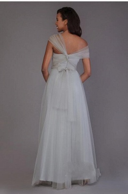 Charming Tulle Sweetheart Ruffles A-Line Bridesmaid Dresses_4