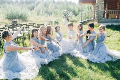 Elegant Tulle Sleeveless Mist Blue Ruffles A-Line Bridesmaid Dresses_8