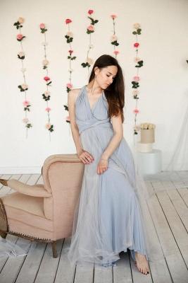 Elegant Tulle Sleeveless Mist Blue Ruffles A-Line Bridesmaid Dresses_4