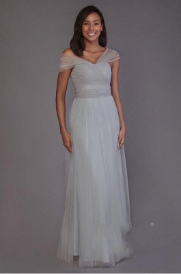 Charming Tulle Sweetheart Ruffles A-Line Bridesmaid Dresses_3