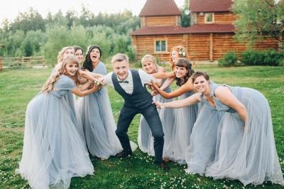 Elegant Tulle Sleeveless Mist Blue Ruffles A-Line Bridesmaid Dresses_7