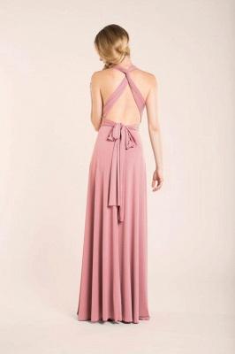 Chiffon Satin Ruffles A-Line Zipper Bridesmaid Dresses_4