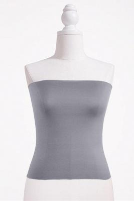 Bandeau Bikini Top for Women Solid Crop Bandeau Top_16
