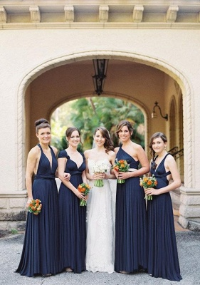 Navy Blue Multiway Infinity Bridesmaid Dresses | Convertible Wedding Party Dress_1