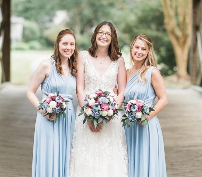 Baby Blue Multiway Infinity Bridesmaid Dresses | Convertible Wedding Party Dress_2