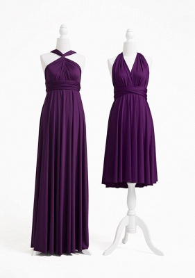 Dark Purple Multiway Infinity Bridesmaid Dresses   Convertible Wedding Party Dress_3