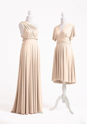 Champagne Multiway Infinity Bridesmaid Dresses | Convertible Wedding Party Dress_3