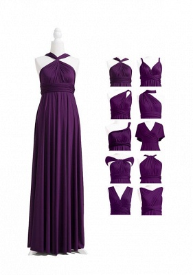 Dark Purple Multiway Infinity Bridesmaid Dresses   Convertible Wedding Party Dress_5