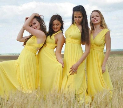 Yellow Multiway Infinity Bridesmaid Dresses | Convertible Wedding Party Dress_2