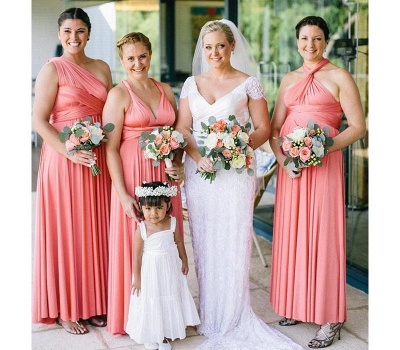 Peach Coral Multiway Infinity Bridesmaid Dresses   Convertible Wedding Party Dress_1