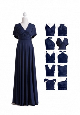Navy Blue Multiway Infinity Bridesmaid Dresses | Convertible Wedding Party Dress_6