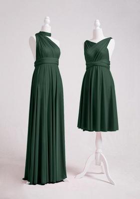 Dark Green Multiway Infinity Bridesmaid Dresses   Convertible Wedding Party Dress_4