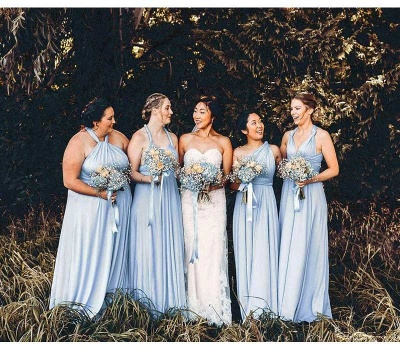 Baby Blue Multiway Infinity Bridesmaid Dresses | Convertible Wedding Party Dress_4