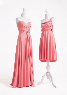 Coral Pink Multiway Infinity Bridesmaid Dresses   Convertible Wedding Party Dress_3