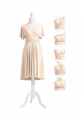 Champagne Multiway Infinity Bridesmaid Dresses | Convertible Wedding Party Dress_5