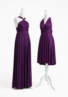 Dark Purple Multiway Infinity Bridesmaid Dresses   Convertible Wedding Party Dress_4