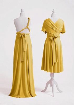 Mustard Yellow Multiway Infinity Bridesmaid Dresses   Convertible Wedding Party Dress_4