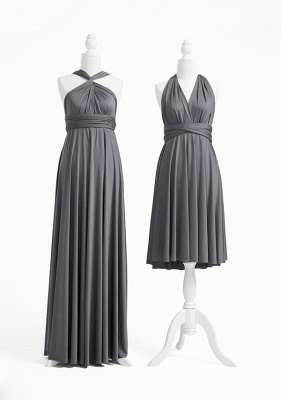Charcoal Grey Multiway Infinity Bridesmaid Dresses | Convertible Wedding Party Dress_2