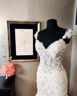 Vintage Long Sweetheart Backless Lace Mermaid Wedding Dress_3