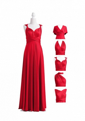 Red Multiway Infinity Bridesmaid Dresses   Convertible Wedding Party Dress_5