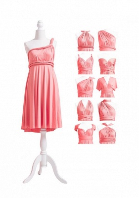 Coral Pink Multiway Infinity Bridesmaid Dresses   Convertible Wedding Party Dress_5