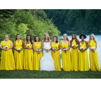 Yellow Multiway Infinity Bridesmaid Dresses | Convertible Wedding Party Dress_4