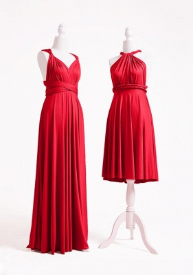 Red Multiway Infinity Bridesmaid Dresses   Convertible Wedding Party Dress_4