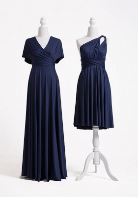 Navy Blue Multiway Infinity Bridesmaid Dresses | Convertible Wedding Party Dress_4