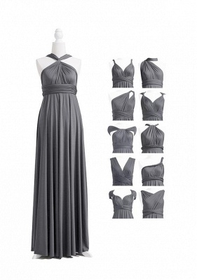 Charcoal Grey Multiway Infinity Bridesmaid Dresses | Convertible Wedding Party Dress_4