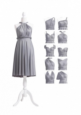 Grey Multiway Infinity Bridesmaid Dresses | Convertible Wedding Party Dress_5