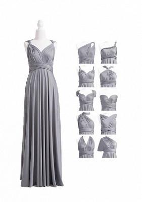 Grey Multiway Infinity Bridesmaid Dresses | Convertible Wedding Party Dress_4