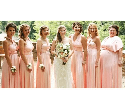 Blush Multiway Infinity Bridesmaid Dresses   Convertible Wedding Party Dress_2