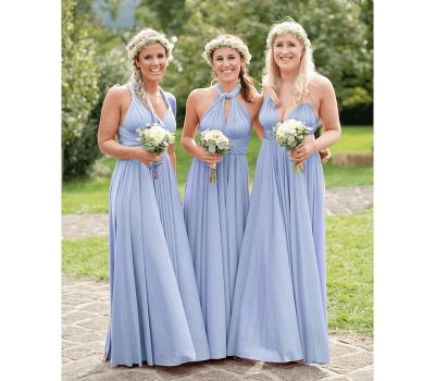 Baby Blue Multiway Infinity Bridesmaid Dresses | Convertible Wedding Party Dress_3