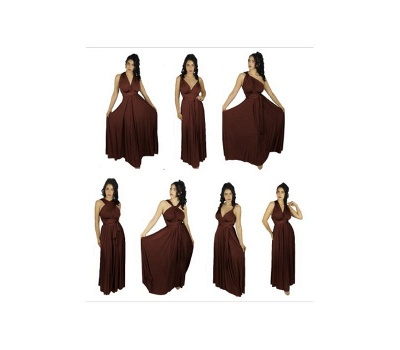 Brown Multiway Infinity Bridesmaid Dresses   Convertible Wedding Party Dress_2