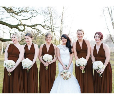 Brown Multiway Infinity Bridesmaid Dresses   Convertible Wedding Party Dress_1