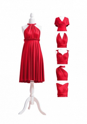 Red Multiway Infinity Bridesmaid Dresses   Convertible Wedding Party Dress_6