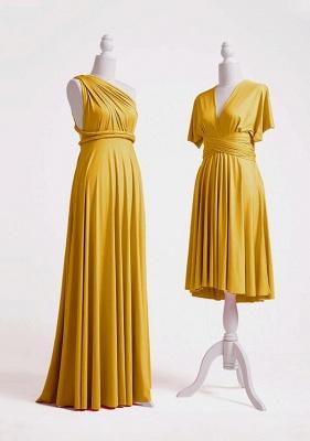 Mustard Yellow Multiway Infinity Bridesmaid Dresses   Convertible Wedding Party Dress_3
