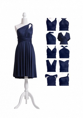 Navy Blue Multiway Infinity Bridesmaid Dresses | Convertible Wedding Party Dress_7