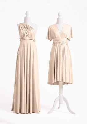 Champagne Multiway Infinity Bridesmaid Dresses | Convertible Wedding Party Dress_2