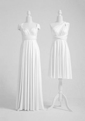 White Multiway Infinity Bridesmaid Dresses | Convertible Wedding Party Dress_2