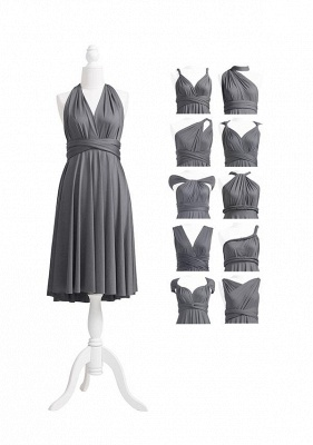 Charcoal Grey Multiway Infinity Bridesmaid Dresses | Convertible Wedding Party Dress_5
